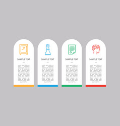 set of four icons colorful vector image