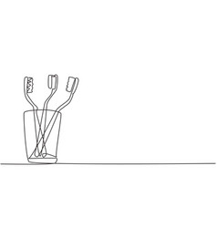 single continuous line drawing several vector image