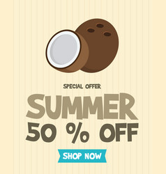 summer holiday sale poster design vector image