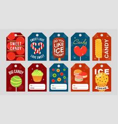 Sweets label set vector