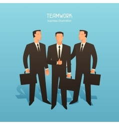 Teamwork business conceptual with vector image