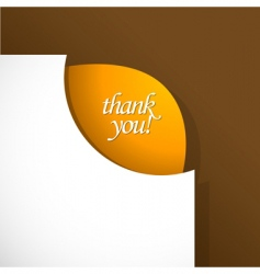 Thank you sign vector