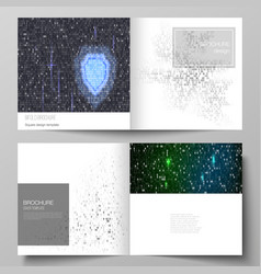 the layout of two covers templates for vector image