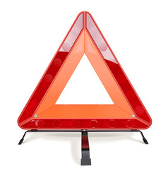 triangular road sign vector image