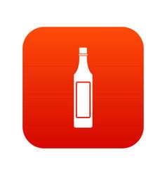 vinegar bottle icon digital red vector image