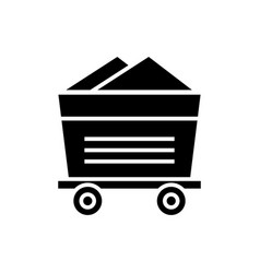 wagon industrial icon black vector image