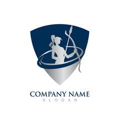 warrior woman logo vector image