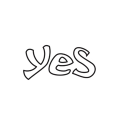 Word yes icon outline style vector