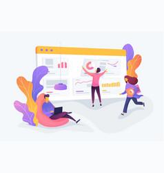 Workflow creative concept vector