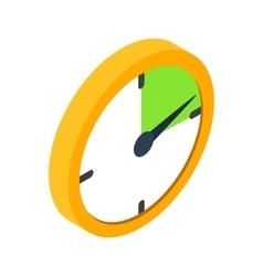 Yellow clock isometric 3d icon vector