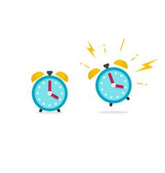 alarm clock icon flat cartoon vector image vector image