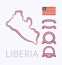 Colors of Liberia vector image