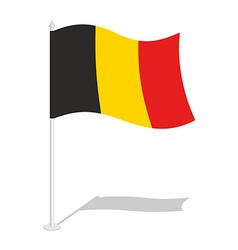 Flag of Belgium Official national symbol of vector image