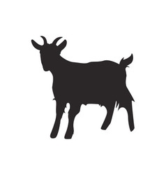 Goat silhouette vector image vector image