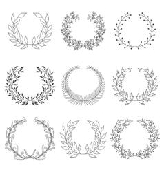 Hand drawn laurels vector image vector image