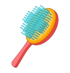 Pet brush icon cartoon style vector image