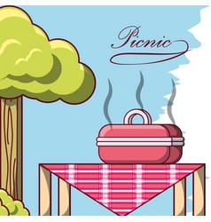 picnic design concept vector image vector image
