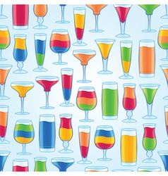 seamless tropical drinks vector image vector image