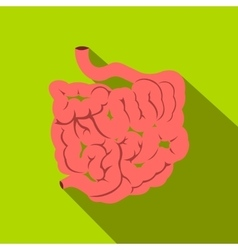 Small intestine flat icon with shadow vector