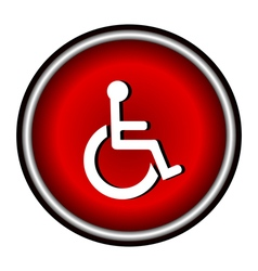 Disabled Handicap Icon in circle vector image