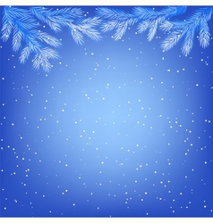 frozen tree branches vector image