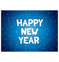 Happy new year inscription vector image vector image