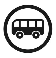 no bus prohibition sign line icon vector image vector image