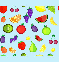 seamless pattern of fruit vector image