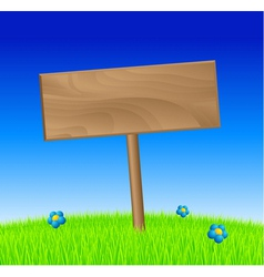 Spring wood sign vector image