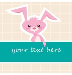 Cartoon bunny card vector image