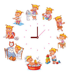 daily routine with simple watches vector image vector image