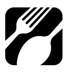 abstract black logo for a restaurant kitchen or vector image