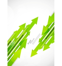 Background with green arrows vector image vector image