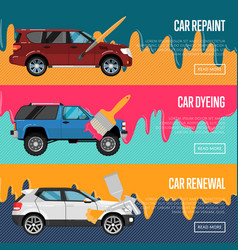 car repaint renewal and dyeing business concept vector image vector image