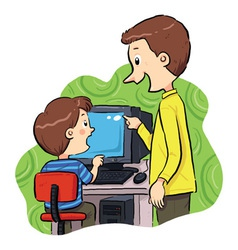 Computer Learning vector image vector image