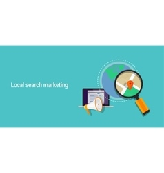 local search marketing vector image