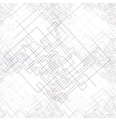Seamless pattern with connected lines and dots vector image vector image