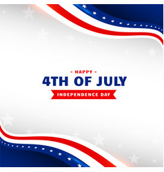 4th july happy independence day holiday vector image