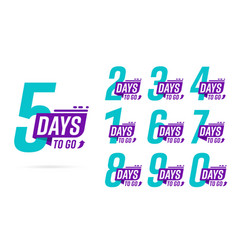 5 2 3 4 1 6 7 8 9 0 days to go badge vector
