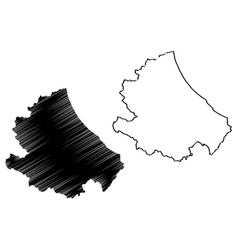 abruzzo map vector image