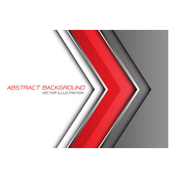 Abstract red grey silver line arrow direction vector
