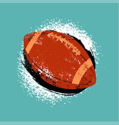 American football ball vintage grunge poster vector