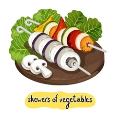 Assorted delicious grilled vegetable vector
