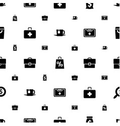 bag icons pattern seamless white background vector image