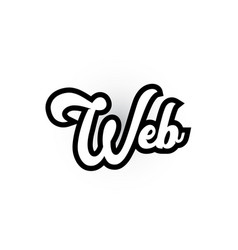 Black and white web hand written word text for vector