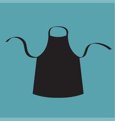 Black blank kitchen cotton apron uniform for cook vector