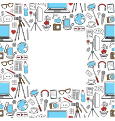 blog seamless frame vector image