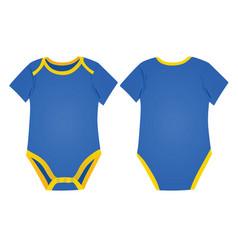 Blue baboy bodysuit vector