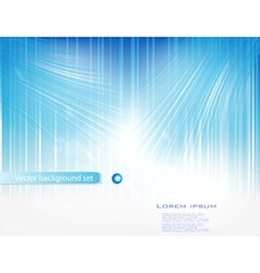 blue circle card abstract water vector image