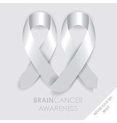 Brain cancer ribbon vector